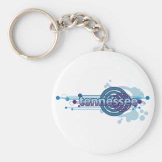 Porte-clés Porte - clé graphique bleu du Tennessee de cercle