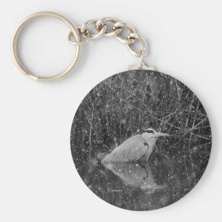Porte-clés Porte - clé gris de héron