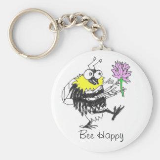Porte-clés Porte - clé heureux d'abeille