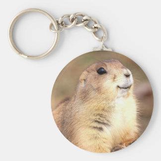 Porte-clés Porte - clé heureux de chien de prairie