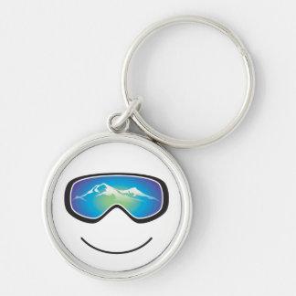 Porte-clés Porte - clé heureux de skieur/surfeur