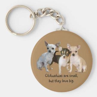 Porte-clés Porte - clé heureux de trio de chiwawa