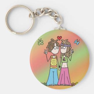 Porte-clés Porte - clé hippie d'amants