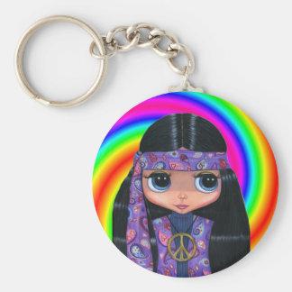 Porte-clés Porte - clé hippie de remous de poupée de Paisley