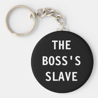 Porte-clés Porte - clé le patron ; esclave de s