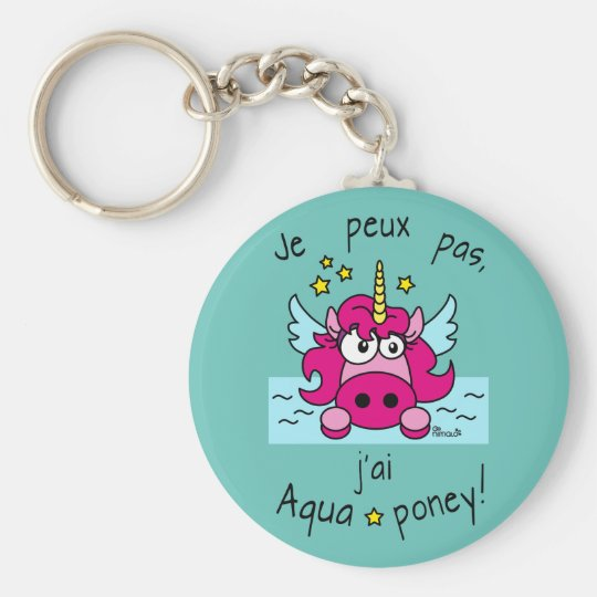 Porte-clés Porte clé Licorne, Aquaponey
