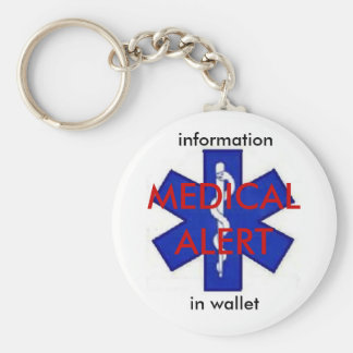 Porte-clés Porte - clé médical d'information d'alerte