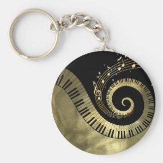 Porte-clés Porte - clé métallique de clés de piano et de