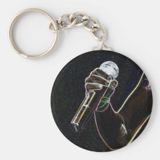 Porte-clés porte - clé micro de chanson de chanteur de
