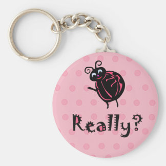 Porte-clés Porte - clé mignon de coccinelle de rose de