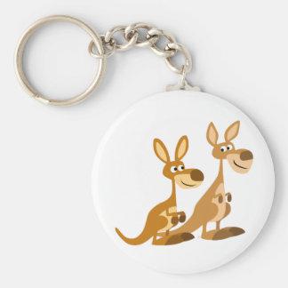 Porte-clés Porte - clé mignon de deux kangourous de bande