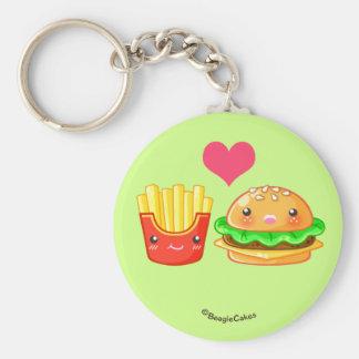 Porte-clés Porte - clé mignon d'hamburger et de bouton de