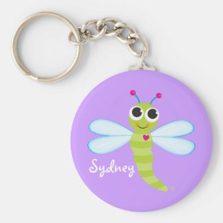 Porte-clés Porte - clé mignon personnalisé de libellule