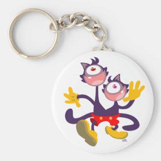 Porte-clés Porte - clé monoculaire de promenade de chats en