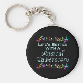Porte-clés Porte - clé musical de soulignage