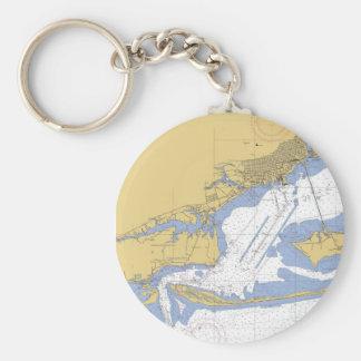 Porte-clés Porte - clé nautique de diagramme de port de