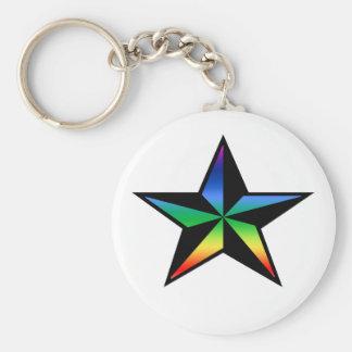 Porte-clés Porte - clé nautique d'étoile d'arc-en-ciel