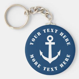 Porte-clés Porte - clé nautique fait sur commande d'ancre