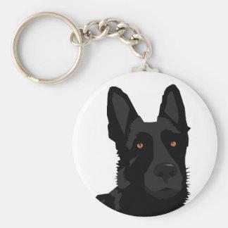 Porte-clés Porte - clé noir de berger allemand