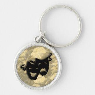 Porte-clés Porte - clé noir de masques de comédie et de