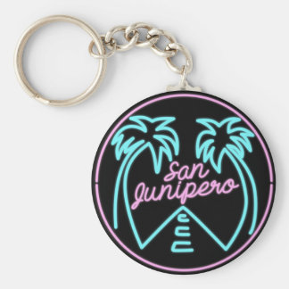 Porte-clés Porte - clé noir de miroir de San Junipero