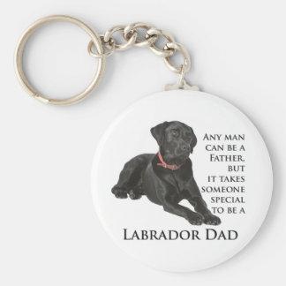 Porte-clés Porte - clé noir de papa de laboratoire