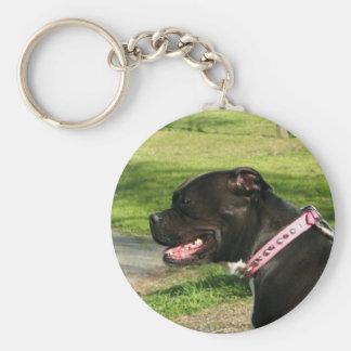Porte-clés Porte - clé noir de pitbull