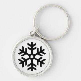 Porte-clés Porte - clé noir du nord de flocon de neige de Rye