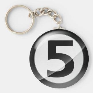 Porte-clés Porte - clé noir du numéro 5