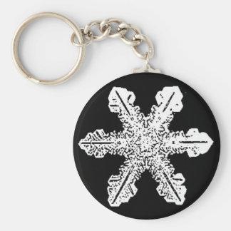 Porte-clés Porte - clé noir et blanc de flocon de neige