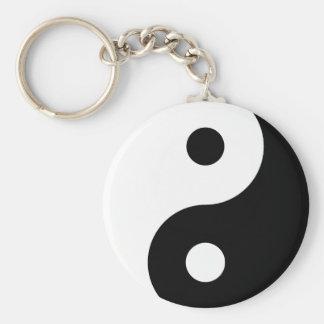 Porte-clés Porte - clé noir et blanc de Yin Yang