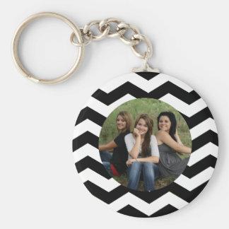 Porte-clés Porte - clé noir et blanc personnalisé de photo de