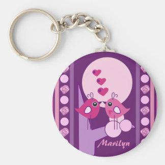Porte-clés Porte - clé nommé de Saint-Valentin avec des