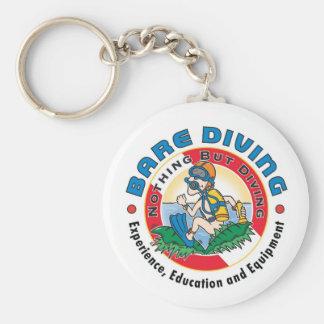 Porte-clés Porte - clé nu de plongeur de plongeur fou