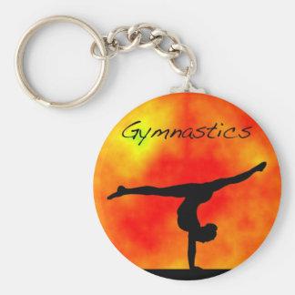 Porte-clés Porte - clé orange de gymnastique