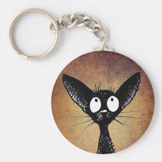 Porte-clés Porte - clé oriental noir mignon de chat