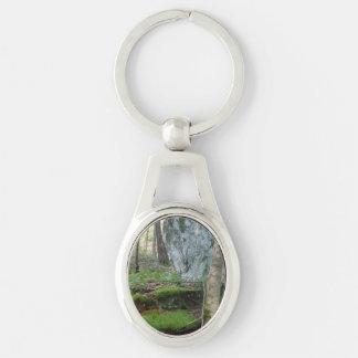 Porte-clés Porte - clé ovale en métal avec la scène