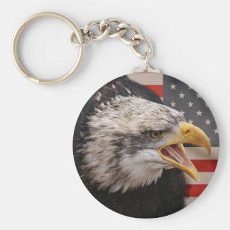 Porte-clés Porte - clé patriotique d'image d'Eagle