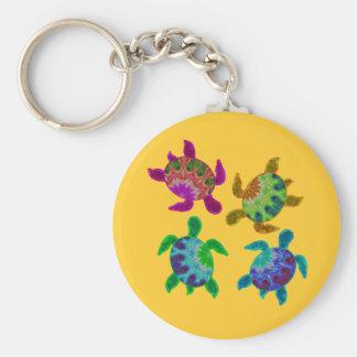 Porte-clés Porte - clé peint multi de tortues