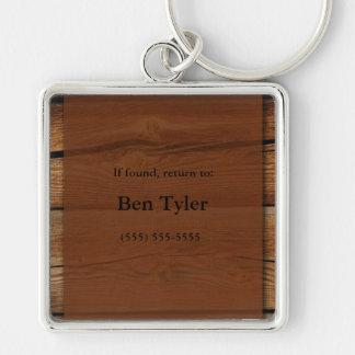 Porte-clés Porte - clé perdu et trouvé en bois de Brown