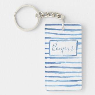 Porte-clés Porte - clé personnalisable peint de rayures