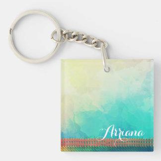 Porte-clés Porte - clé personnalisé de clôture d'aquarelle