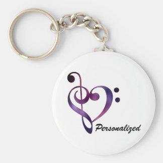 Porte-clés Porte - clé personnalisé de coeur de clef basse et