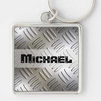 Porte-clés Porte - clé personnalisé de plat de diamant en