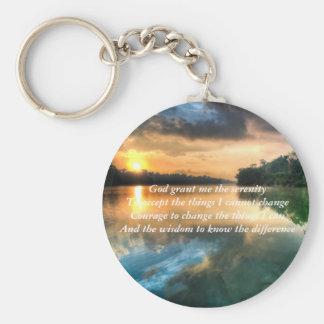 Porte-clés Porte - clé pittoresque de prière de sérénité