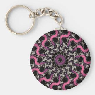 Porte-clés Porte - clé pourpre argenté de ruban de rose de