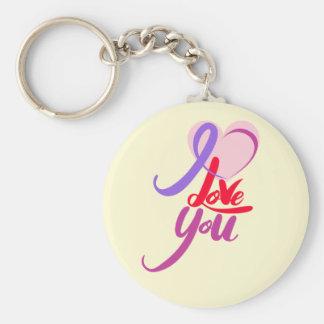 Porte-clés Porte - clé pourpre rose de bouton de coeur de