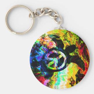 Porte-clés Porte - clé psychédélique de tortues de paix