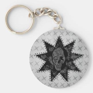 Porte-clés Porte - clé punk de crâne (gris)