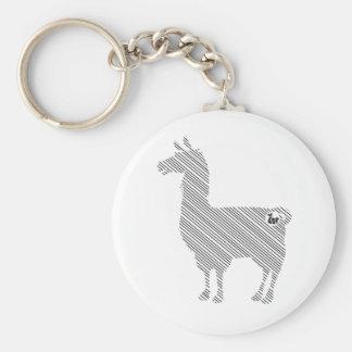 Porte-clés Porte - clé rayé de lama